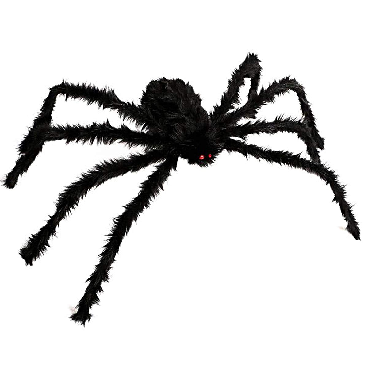 Halloween Scary Giant Spider 6.6 Ft. 200cm Fake Large Hairy Spider Props for Outdoor Decor & Yard Decorations