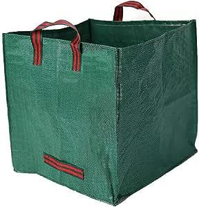 JLCP Bolsas de residuos de jardín, PP Bolsa de Basura Cuadrada jardín Rubor Hoja colector Plegable Bolsa de Almacenamiento en el hogar con Mango Reutilizable Bolsa de Cultivo de Verduras 2PCS: Amazon.es: