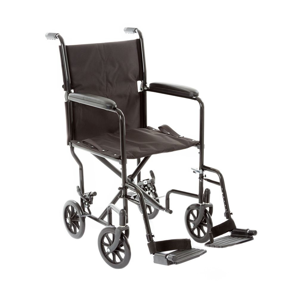 Silver Spring Steel Manual Transport Chair