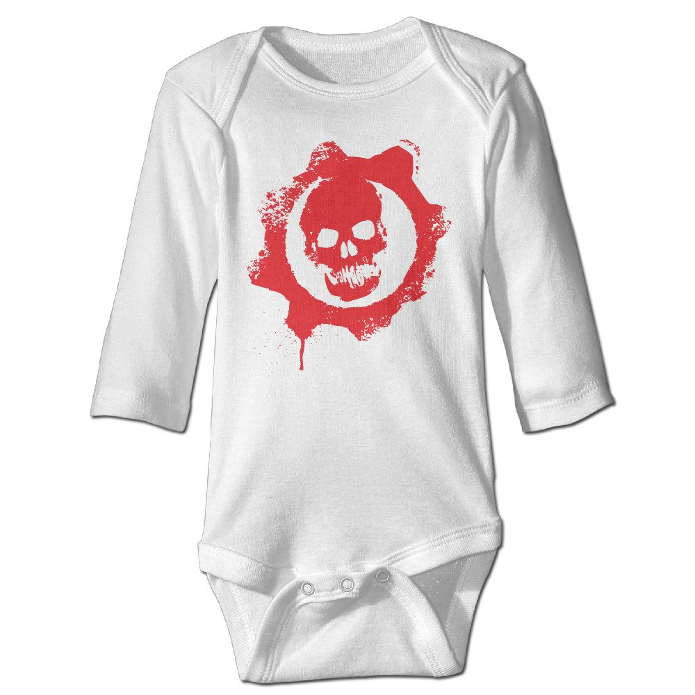 Baby Boys Skull Logo Gears Of War Organic Baby Onesies