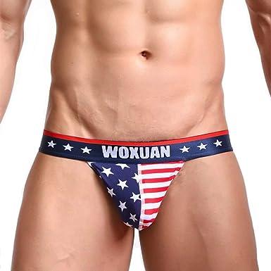US Mens Breathable Panties G-String Thong Underwear Jockstrap Trunks Underpants