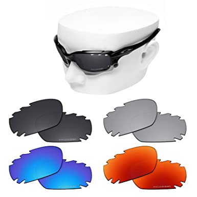 c9821cbc974d8 OOWLIT 4 Pair Replacement Sunglass Lenses compatible with Oakley Jawbone  Vented POLARIZED