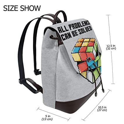 56b4f0d381a0 Amazon.com | All Problems Can Be Solved Rubiks Cube Pixel Art ...