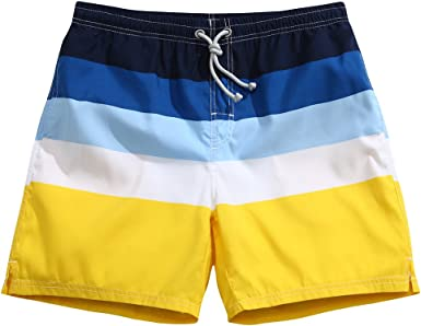 Men/'s Cotton Blend Cool Swim Trunks Board Boxer Shorts Swimwear M L XL