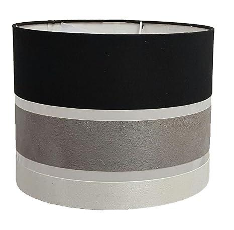 Pantalla de lámpara de estilo tambor a rayas de 27 cm para ...