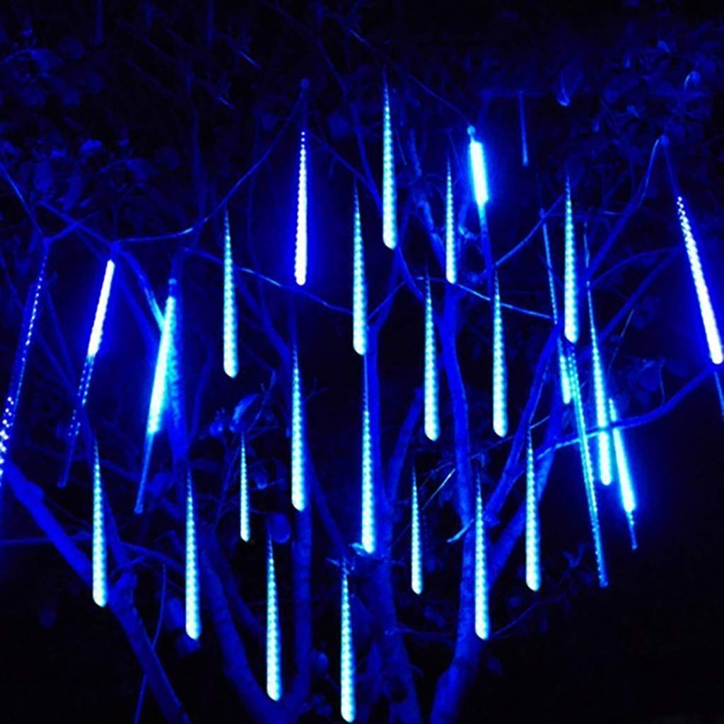 Blue-1 QIUUE Meteor Lights 6 Sticks//Set 30CM Party LED Lights Shower Rain Snowfalls Xmas Tree Garden Outdoor Decoration