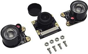 Raspberry Pi 3 Night Vision Fisheye Camera Module 5MP 130 Degree Focal Adjustable Surveillance Lenses