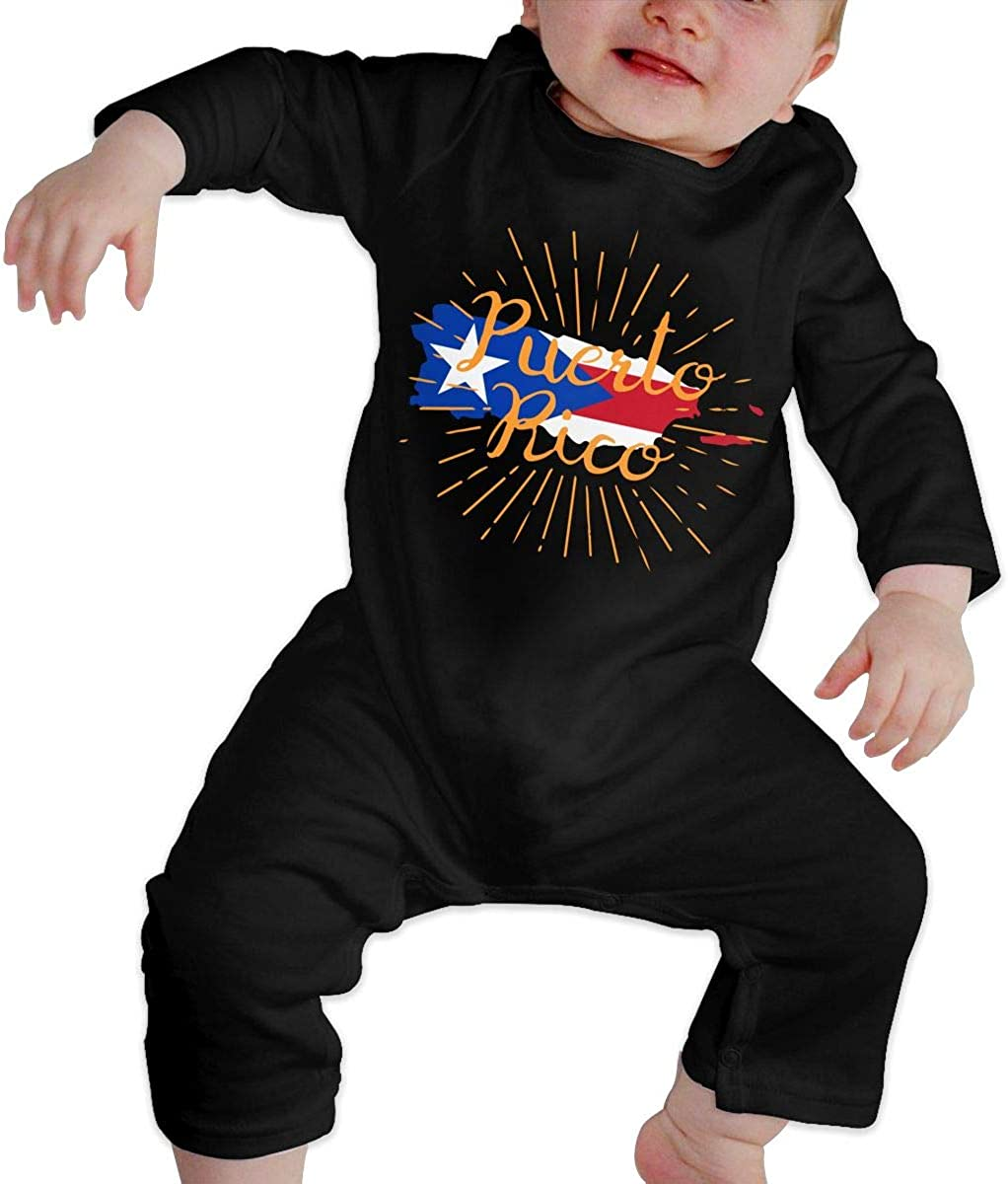 Toddler Baby Boy Romper Jumpsuit Puerto Rico-1 Organic One-Piece Bodysuits Coverall Outfits