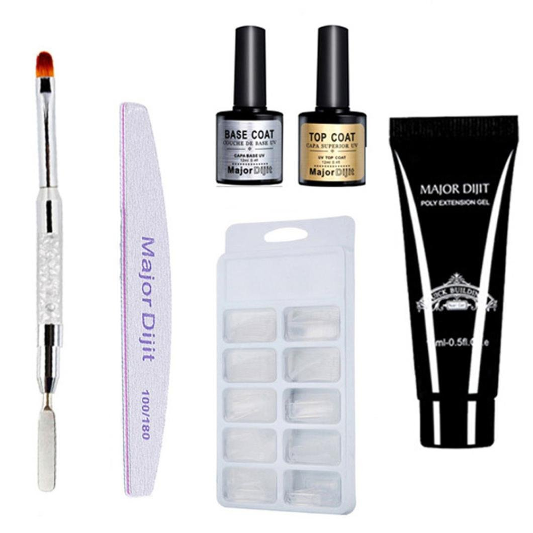 Amazon.com : Poly Gel, Kasien Poly Gel Lasting 100PCS False Nails Double-end Nail Brush Pusher Dead Skin Set (C) : Beauty