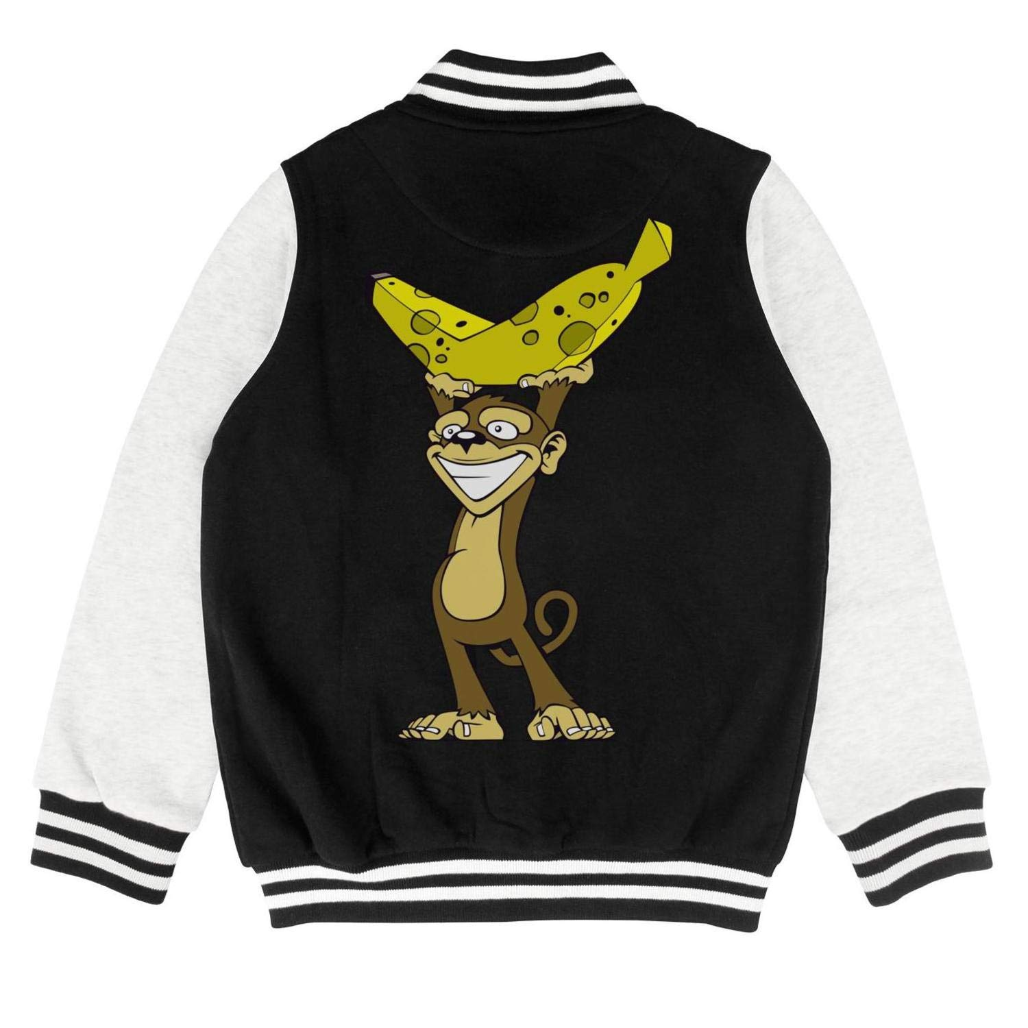 PoPBelle Kids Sloths and Giant Banana Kid Track Jacket for Girls Boys Casual Cozy Coats