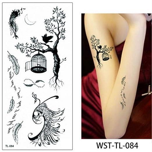adgkitb 4 Piezas Hoja Mujeres Esternón Joyería Tatuaje Temporal ...