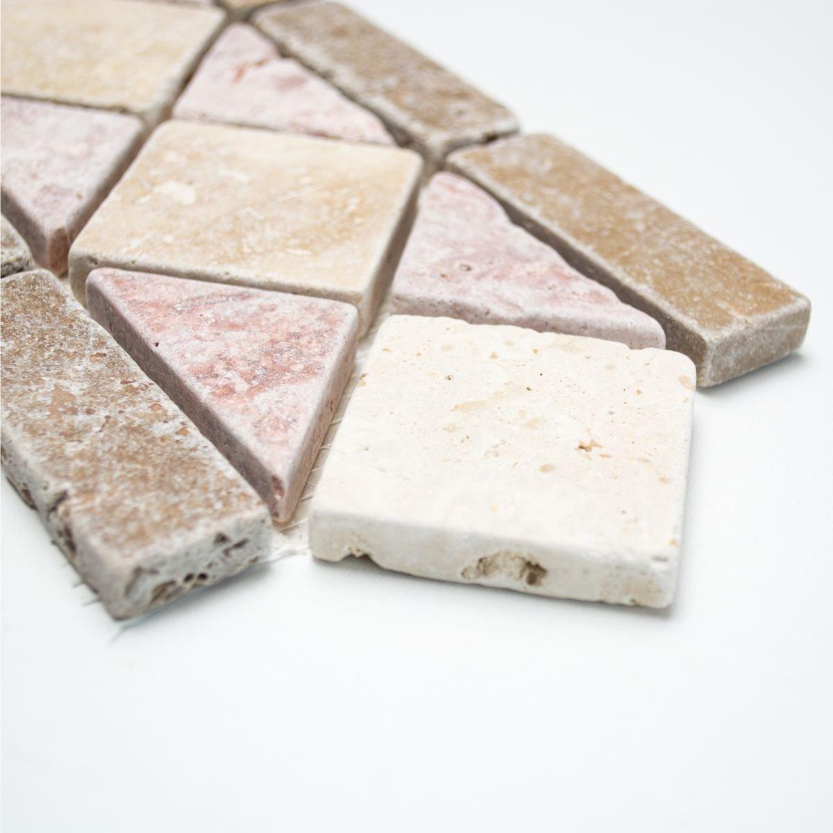 Borde Travertine cenefa piedra natural beige rojo marr/ón cenefa 12,5/x 30,5/x 1/Pluto para suelo pared ba/ño inodoro ducha cocina azulejos Espejo Mostradores cubierta para ba/ñera Mosaico Matte mosaico placa