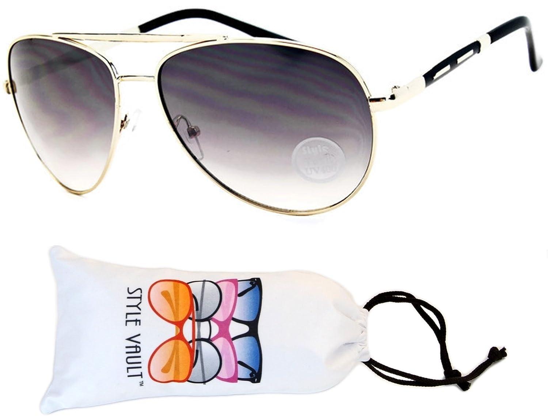 A3032-VP Style Vault Aviator Metal Sunglasses