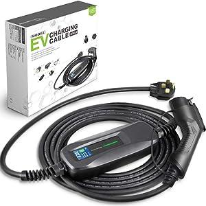 Morec 40Amp EV Charger Level 2 NEMA14-50 220V-240V Portable EV Charging Cable Faster ev Charging Station, Electric Vehicle Charger Compatible with All EV Cars 26ft