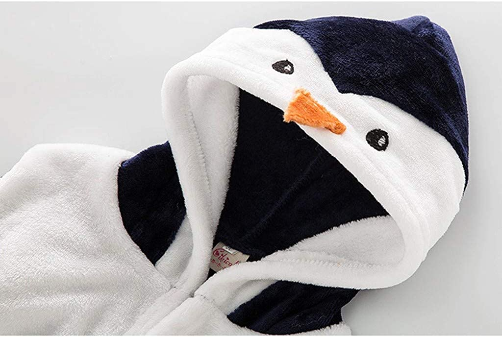 Toddler Baby Cartoon Animal Hoodie Bath Towel Infant Flannel Bathing Bathrobe squarex 0-5 Years Baby Bathrobe Kids Christmas Valentines Day Winter Long Sleeve Clothes