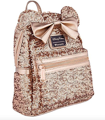 Price comparison product image Disney Loungefly Rose Gold Sequin Backpack