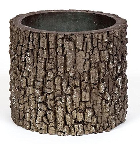 Faux Wood Log - REAL Planters V-2 EMW7430226, Medium, Oak