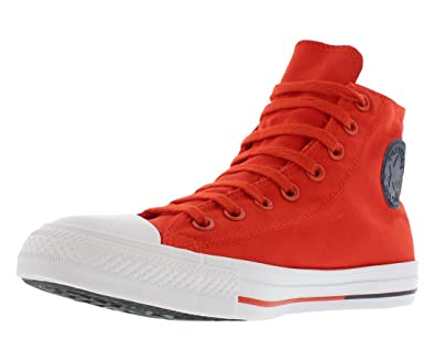 Converse Womens Chuck Taylor All Star Hi Counter Climate Red Canvas Trainers  7 UK