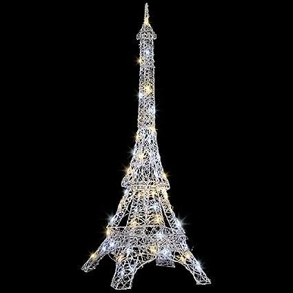 Amazon.com : Christmas Sparkle Light Show Eiffel Tower : Garden ...
