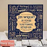 Personalized Retirement Collage Gift - Wood...