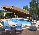 Island Umbrella NU6785 Victoria Octagon Cantilever with Valance in Sunbrella Acrylic, 13′, Stone
