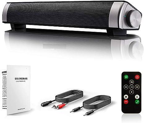 Altavoces Ordenador,Barra Sonido Pc Barra De Sonido Para Sonido Envolvente De Tv 360 ° Envolvente Sonido Bluetooth 4.2 Rotatorio Botón Y La Función De Reducción De Ruido Fácil De Conectar Compati: Amazon.es: