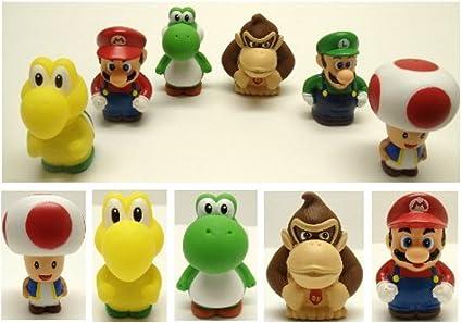 Amazon Com Super Mario Brothers 6 Piece Bath Play Set Featuring