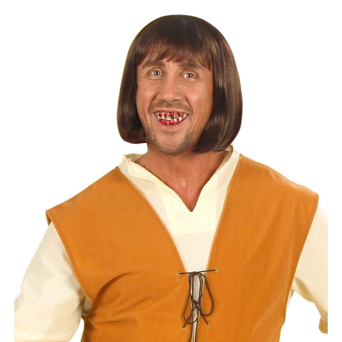 Dentadura de anciano de broma divertido dientes postiza halloween NET TOYS