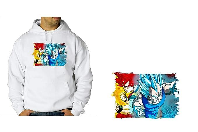 MERCHANDMANIA Sudadera con Capucha Dragon Ball Super Gods SSJ Sweatshirt Custom: Amazon.es: Ropa y accesorios