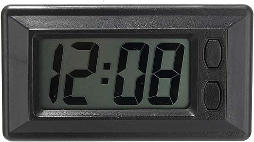 F Blue Ultra Dünne Lcd Digital Display Träger Auto Armaturenbrett Zeit Kalender Anzeigen Klebepad Uhr Küche Haushalt
