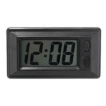 Elenxs Pantalla LCD Digital del Tablero de Instrumentos del vehículo del Coche del Temporizador del Reloj del Calendario Almohadilla Adhesiva: Amazon.es: ...