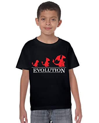 884f1714 Mad Tees Charizard Evolution Inspired by Pokemon Kids T Shirt:  Amazon.co.uk: Clothing