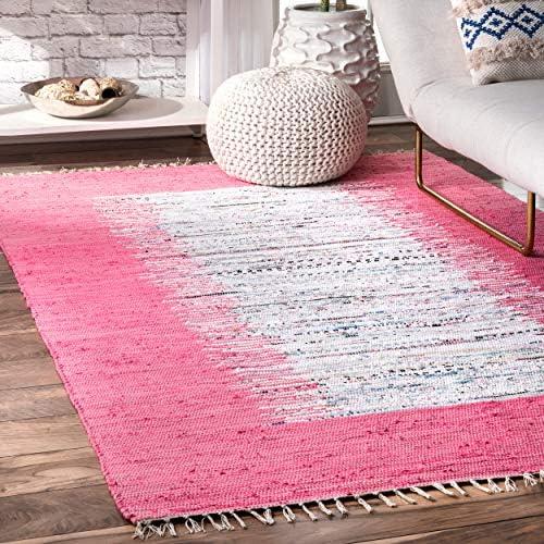 nuLOOM Tasha Flatweave Area Rug, 5 x 8 , Pink
