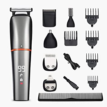 Amazon Com Ezostar Hair Clippers Electric Beard Trimmer Grooming Kit For Men Professional Cordless Shaver Mustache Nose Ear Detail Trimmers Precision Body Groomer Usb Rechargeable 6 In 1 Beauty