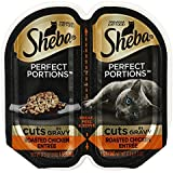 Sheba Perfects Portions Multipack Cuts in Gravy,Roasted Chicken Entree (6-TRAYS)