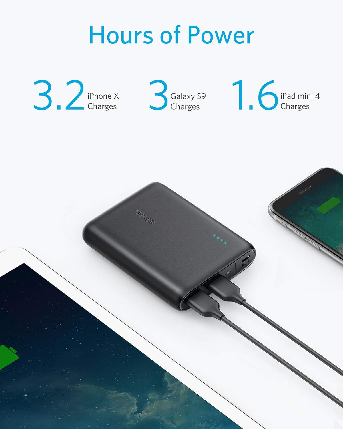 Anker Powercore 13000 Portable Charger Compact 13000mah 2 Port 12v Pocketsized Rechargeable Battery With Protection Circuit 2800ma Phone Power Bank Poweriq And Voltageboost Technology For Iphone Ipad Samsung Galaxy Black Cell Phones Accessories