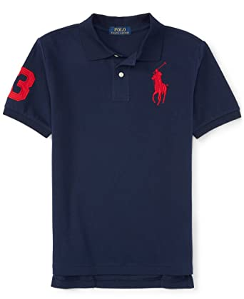 Boys Polo Ralph Lauren Big Pony Polo Shirt (6, French Navy)