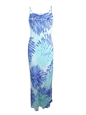 b30e2d69989 Image Unavailable. Image not available for. Color  Calvin Klein Women s  Tropical-Print Chiffon Maxi Dress ...