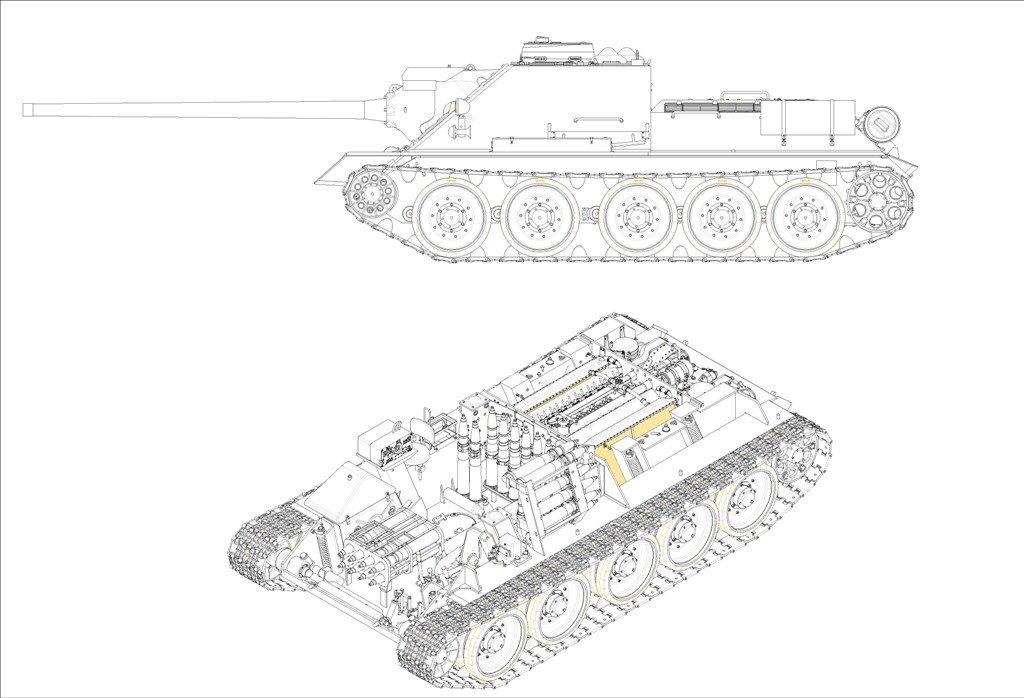 Trumpeter Soviet SU-100 Tank Destroyer Model Kit
