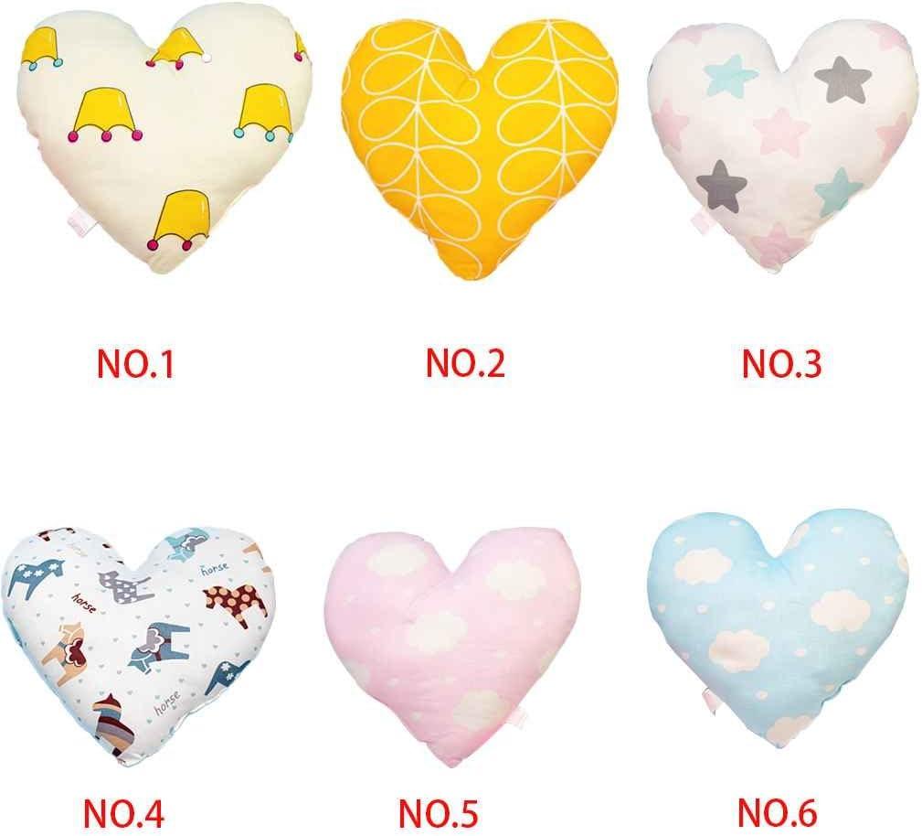 Babysbreath17 Coeur de B/éb/é Doux Oreiller Nouveau-N/é B/éb/é Coton Coussin Oreiller de pour Enfant en Bas /Âge Chambre Literie D/écoration Color/é