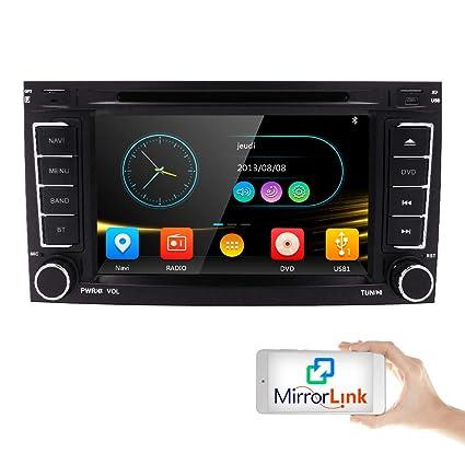amazon com dvd cd player car gps stereo for vw touareg transporter rh amazon com User Webcast User Webcast