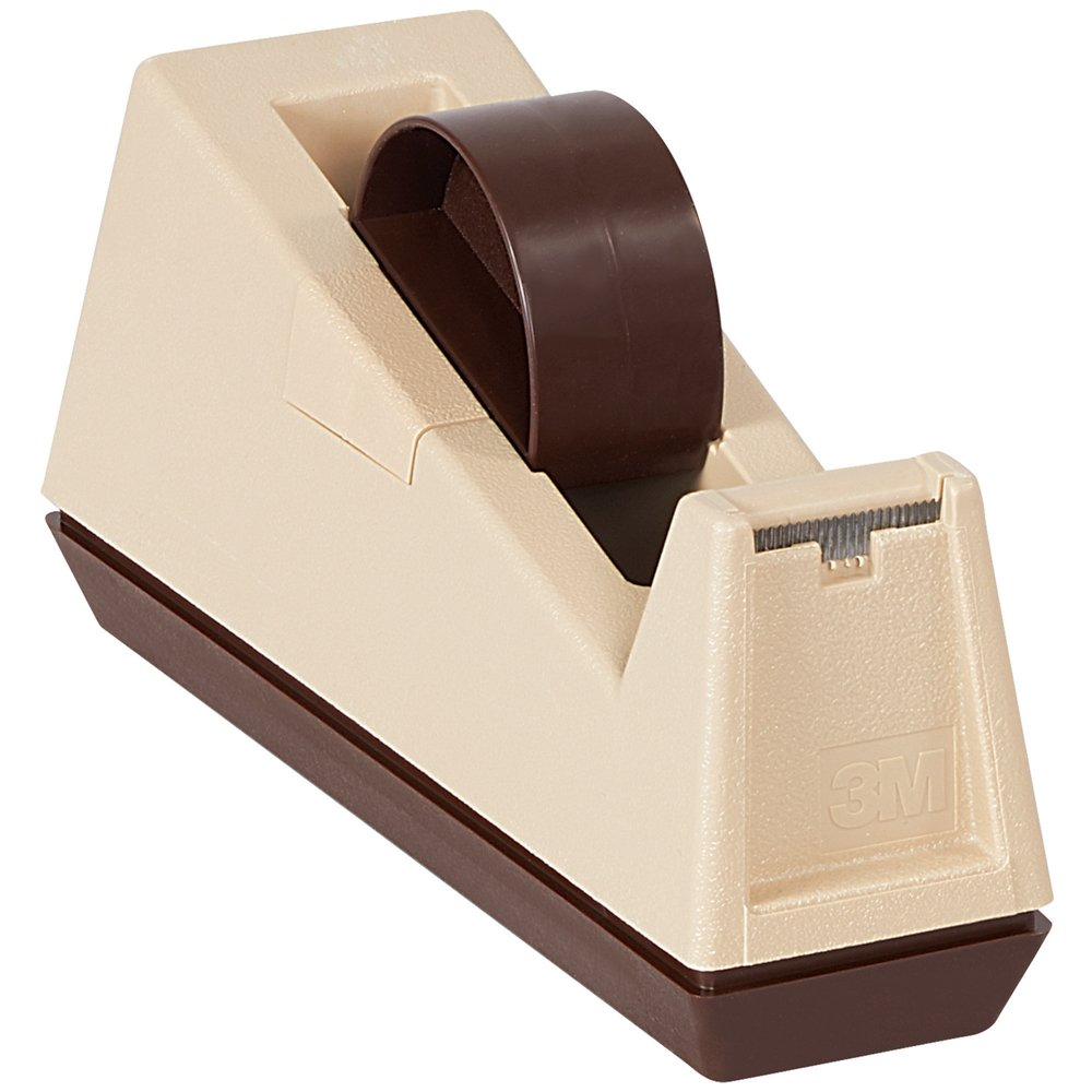 Scotch TD3MC25 C-25 Table Top Dispenser, 3' Core, Tan/Putty 3 Core