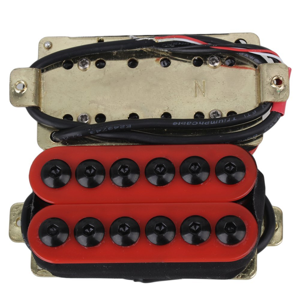 yibuy Par de Pastillas para guitarra eléctrica de metal rojo con imanes & Cerámica umbrella-head Tornillos: Amazon.es: Instrumentos musicales