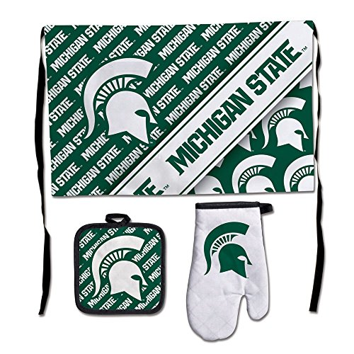 WinCraft NCAA Michigan State University Barbeque Tailgate Set-Premium