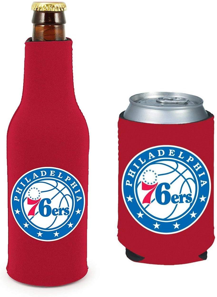 NBA Basketball Team Color Logo Can & Bottle Holder Insulator Beverage Cooler Set