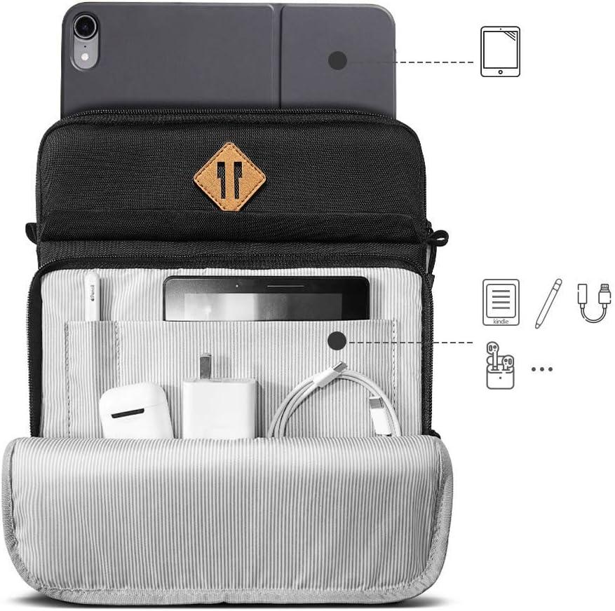 tomtoc Sacoche Housse Compatible avec iPad Air 2019 10.5| Nouvel iPad Pro 11 2018 A1980 iPad Air 2| Samsung Galaxy Tab A 10.1 Pencil et Smart Keyboard Gris |iPad Pro 10.5| Nouvel iPad 9.7