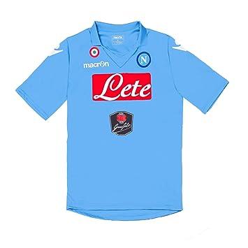 Camiseta de fútbol Macron S.S, de Napoli 2014 2015 artículo oficial de colour azul azul