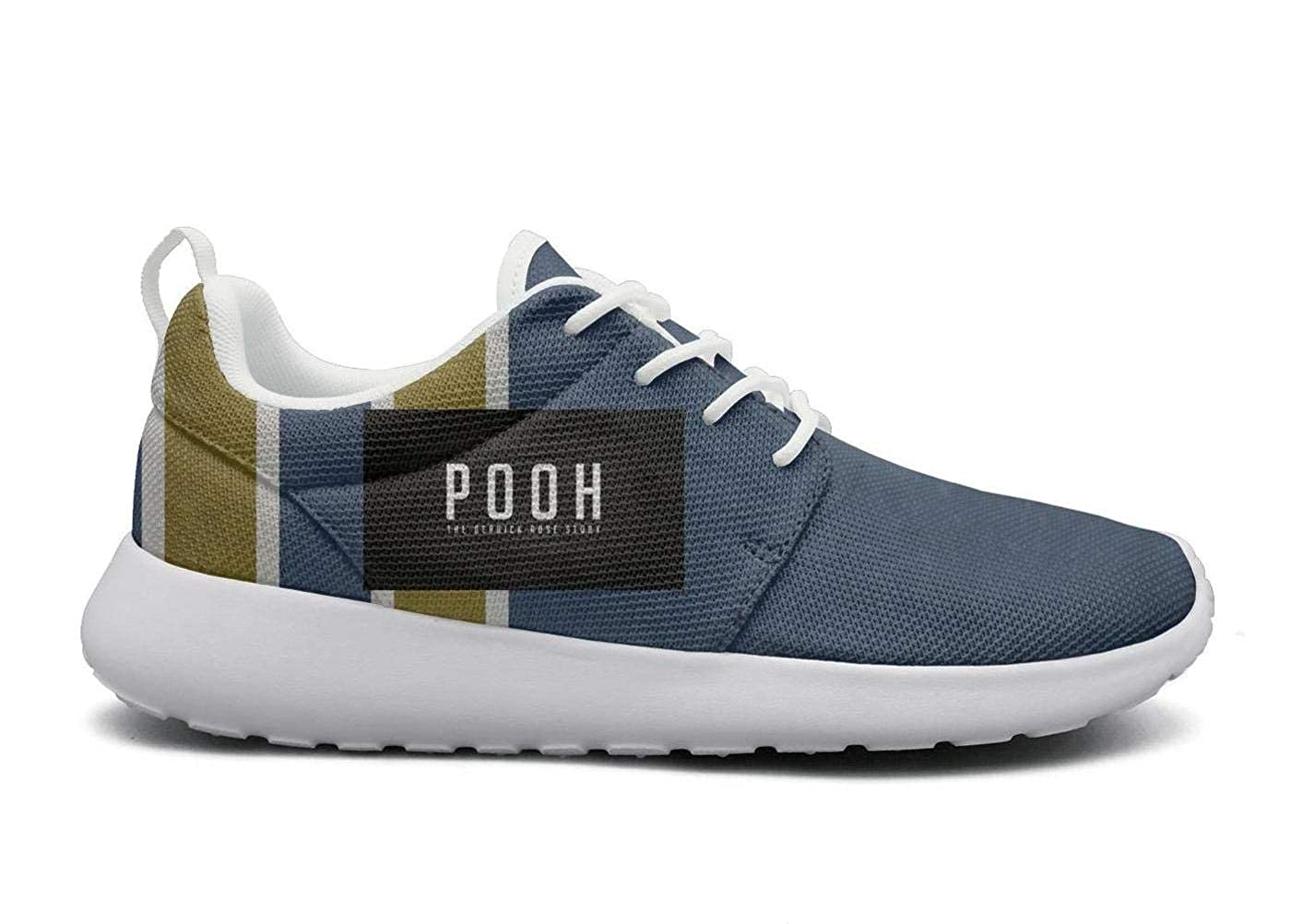 Womens Pooh-The-Derrick-Rose-Story-Logo Fashion Sneaker Comfortable Low top Casual Canvas Walking Shoes momery Foam Cushioned