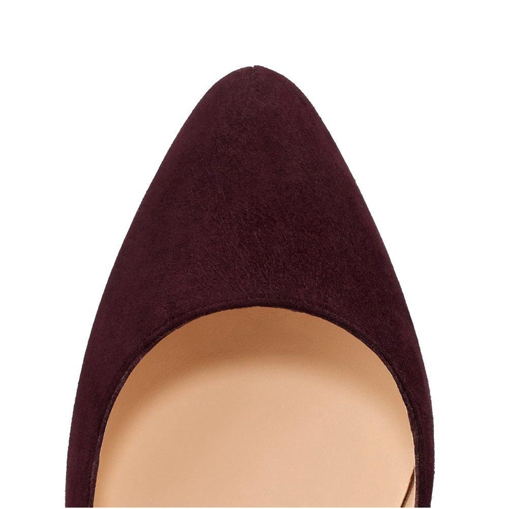 Women Mary Jane Platform Pumps Ankle Strap Stiletto High Heels Dress Shoes B071CF5LPX 9.5 B(M) US|Brown