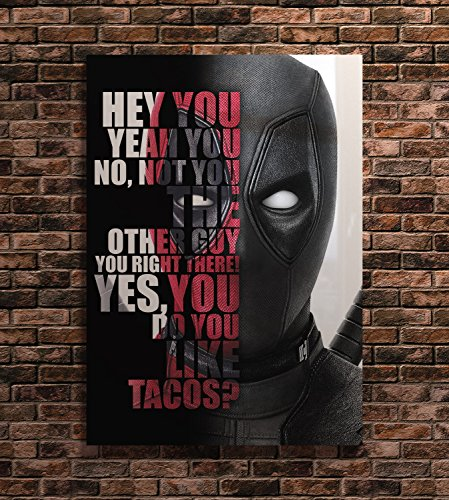 Deadpool Superhero Action Movie Characters Motivational Quote Poster